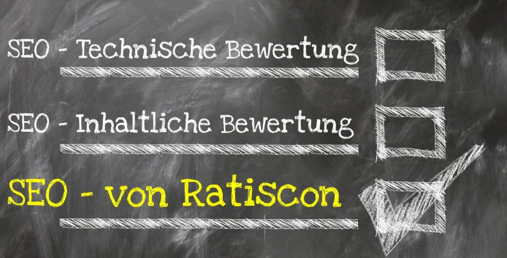 SEO Check - Checkliste von Ratiscon